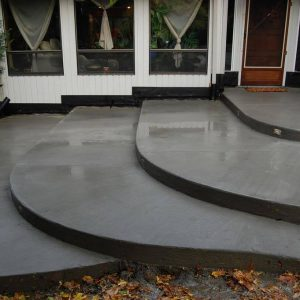 concrete step and doors