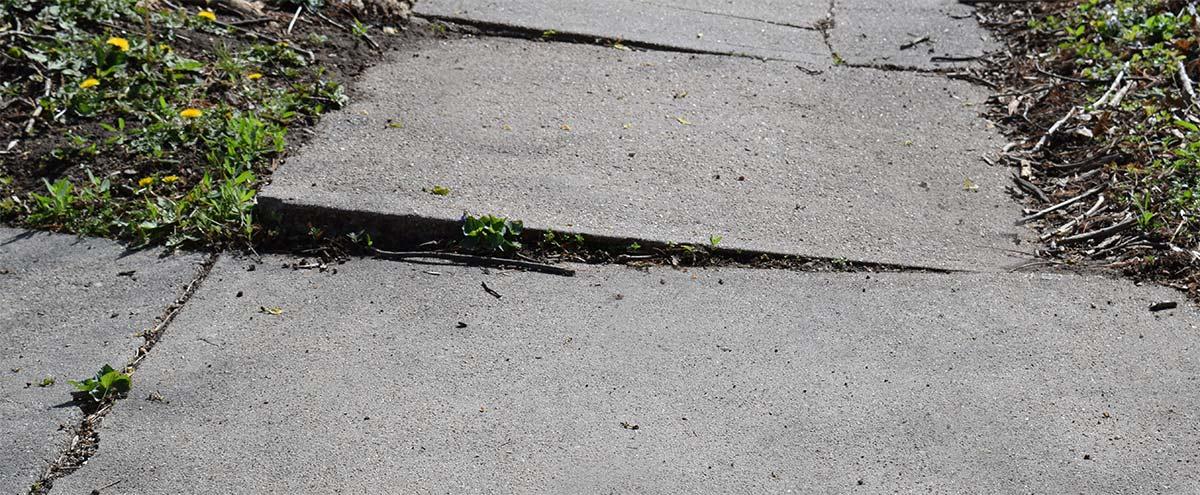 concrete driveway damage