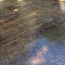 concrete stained stamped