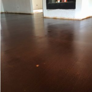 dark concrete floors