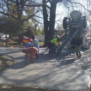 Concrete Installation of Driveways Tulsa