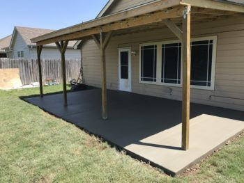 Concrete patios and driveways Broken Arrow Oklahoma