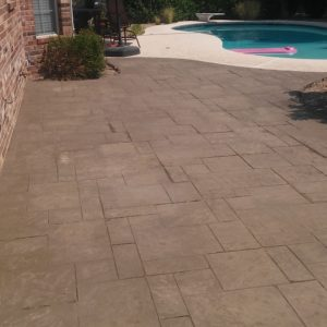 Concrete staining and stamping Tulsa Oklahoma