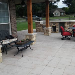 Outdoor Kitchen and Stamped Concrete Contractors in Tulsa Oklahoma.
