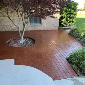 Stamped and Stained Concrete in Tulsa OK