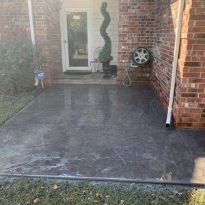 Stamped and Stained Concrete Installation Tulsa OK